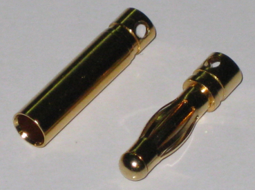1 Paar Goldkontaktstecker 4mm